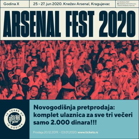 Počinje prodaja ulaznica za Arsenal X, uz novogodišnji popust!